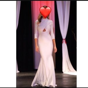 Michael Costello white gown